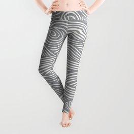 Waves in Charcoal Leggings