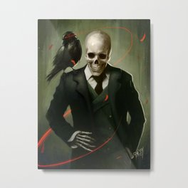Skully Gentleman Metal Print