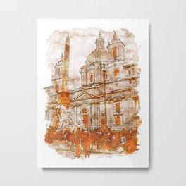 Rome, Piazza Navona Metal Print