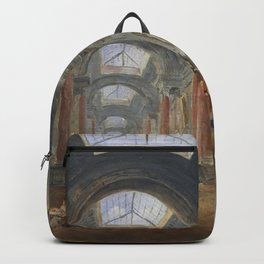 Hubert Robert - Projet d'amenagement de la Grande Galerie du Louvre, vers 1798 Backpack