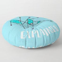 Astrophysics Explained Floor Pillow
