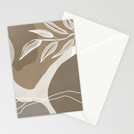 Leafy Lane in Neutral 3 Stationery Cards