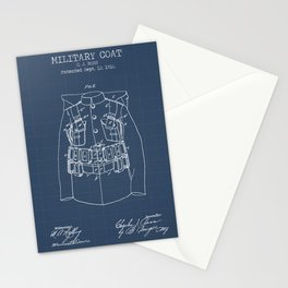 Military coat blueprint Stationery Cards