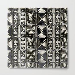 Tribal mud cloth pattern Metal Print