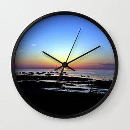 Wonderful Sunset Seascape Wall Clock
