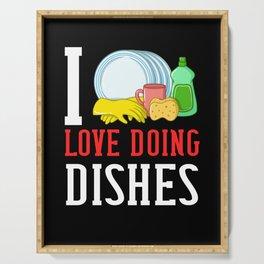 Dishwasher Dishwashing Gift Job Dish Washing Serving Tray
