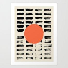 Mid Century Modern Art Print, SUN Art, Extra Large Wall Art, Mid Century Print, CIRCLE Print, Modern Art Print