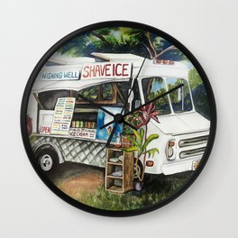 Hawaiian Shave Ice Truck Wall Clock