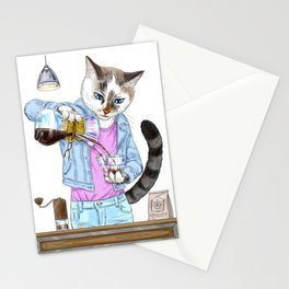 CheMEOWx coffee. AlterCATive brewing Stationery Cards