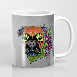 Boxer in Fawn - Day of the Dead Sugar Skull Dog Coffee Mug