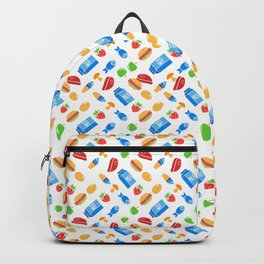 """Must eat now"" grocery list (fun food pattern) Backpack"