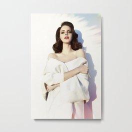 La-na del rey Music Silk Poster Frameless Metal Print