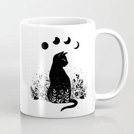 Night Garden Cat Coffee Mug