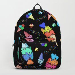 Bright Colors Ice Cream Pattern Backpack