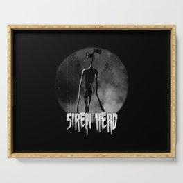 Scary Siren Head vintage meme Serving Tray