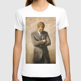 Official Portrait of President John F. Kennedy by Aaron Shikler T-shirt