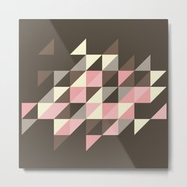 Triangles [strawberry mousse] Metal Print