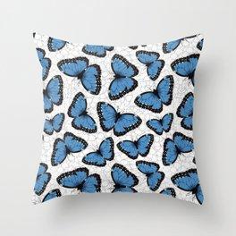Blue morpho butterflies Throw Pillow