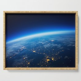 Earth from Space Serving Tray