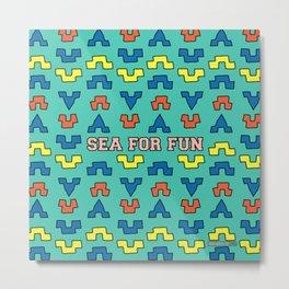 Sea for fun (green) Metal Print
