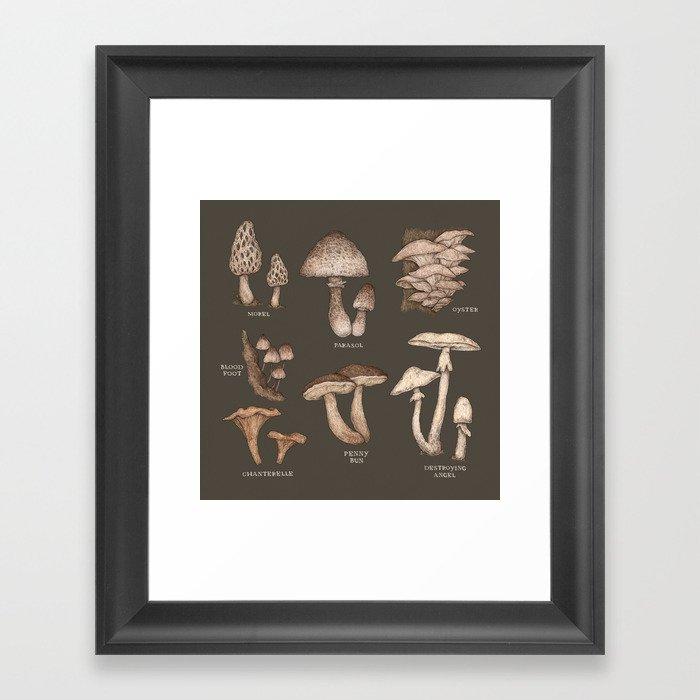 Mushrooms Gerahmter Kunstdruck