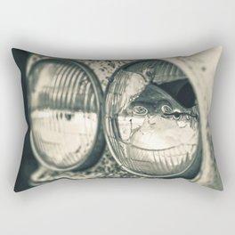 Broken Headlight on Vintage Pick-up Truck 2 Rectangular Pillow