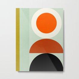 think big shapes geometric Metal Print
