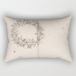 Johann Bayer - Uranometria / Measuring the Heavens (1661) - 46 Southern Crown Rectangular Pillow