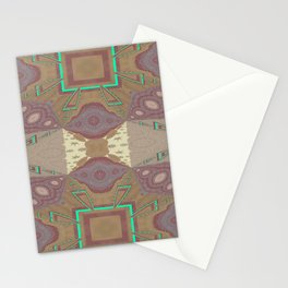 Pallid Minty Pattern 7 Stationery Cards