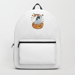 Ghost Pumpkin, It's Show Time Funny Halloween Horror Scary Backpack