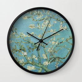 Blossoming Almond Tree, Vincent van Gogh Wall Clock