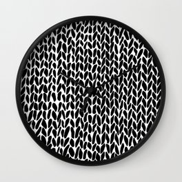 Hand Knit Zoom Wall Clock