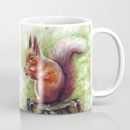 Squirrel Watercolor Painting Coffee Mug