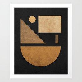 Geometric Harmony Black 03 - Minimal Abstract Art Print