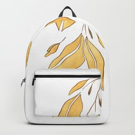 Watercolor Leaves Illustrations Backpack
