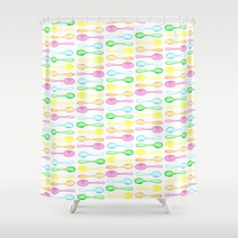 Watercolor Spoons! Shower Curtain