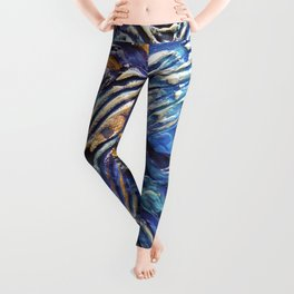 Abstract nautical background Leggings