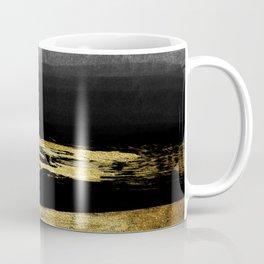 Black & Gold Stripes on White - Mix & Match with Simplicty of life Coffee Mug