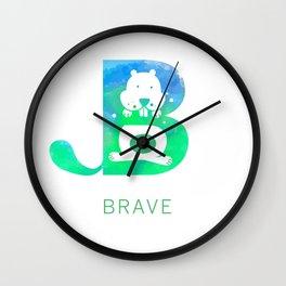 Brave Big Letter 2 Wall Clock