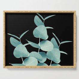 Eucalyptus Leaves Green Black #1 #foliage #decor #art #society6 Serving Tray