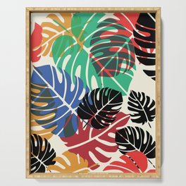Chew chew's summer palm leaves Serving Tray