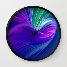 Twisting Forms #2 Wall Clock