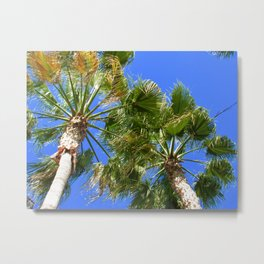 Yellow and Green Palms Metal Print