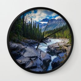 River - Rocks - Trees - Conifer - Stones - Creek - Stream. Little sweet moments. Wall Clock