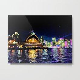 Sydney Opera House Vivid Metal Print