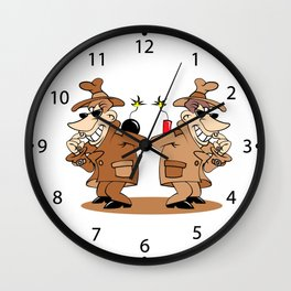 two spies Wall Clock