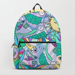 Sun Healing Psychedelic Mandala Backpack