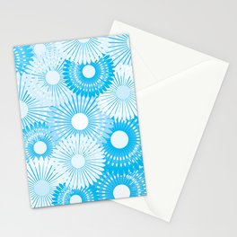 Blue and white flowers Stationery Cards
