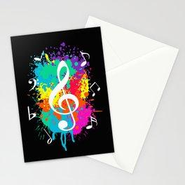 Music grunge Stationery Cards