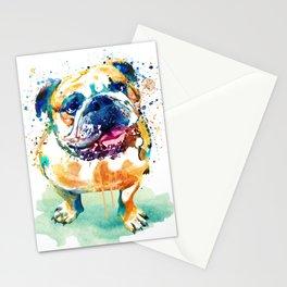 Watercolor Bulldog Stationery Cards